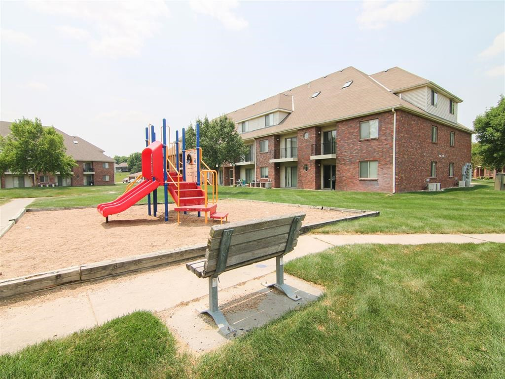 Play area at Fountain Glen Apartments in Lincoln Nebraska