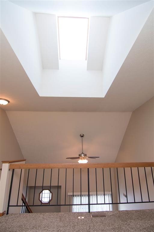 loft space with skylight providing plenty of natural light at Fountain Glen Apartments in Lincoln Nebraska