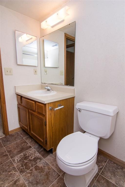 sink inside bathroom at Fountain Glen Apartments in Lincoln Nebraska