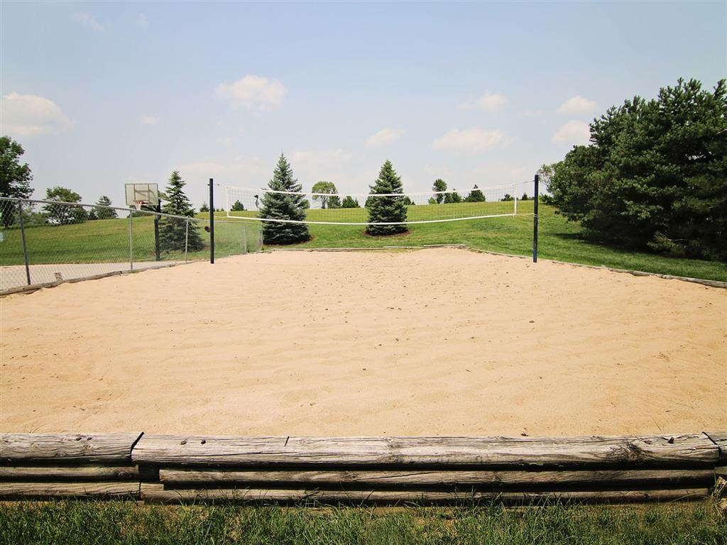 Volleyball court area at Fountain Glen Apartments in Lincoln Nebraska