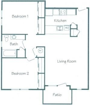 Cedar Floorplan at Fountain Glen