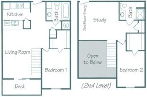 Pawnee Floorplan at Fountain Glen