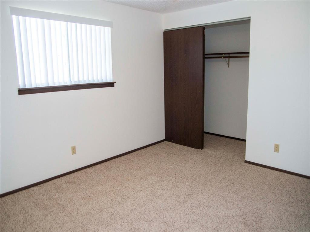 Interiors-Great Plains Apartments Bedroom and Large Closet in Alliance, NE