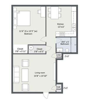 Enclave Floorplan at Great Plains Apartments