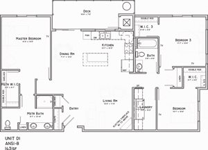 North Pointe Villas 3 bedroom Harrison Floor plan