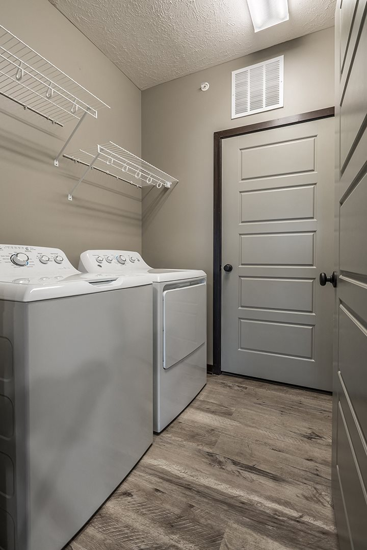 Full sized washer and dryer available in unit at North Pointe Villas