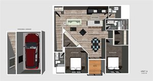 Alexander Floorplan at North Pointe Villas