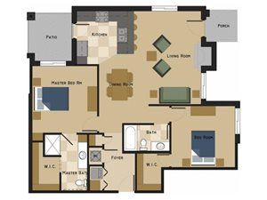 Camden Floorplan at North Pointe Villas