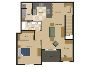 Delaney Floorplan at North Pointe Villas