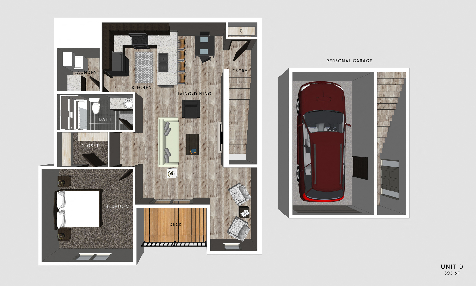 1 Bedroom Apartment Delaney Floor Plan North Pointe Villas