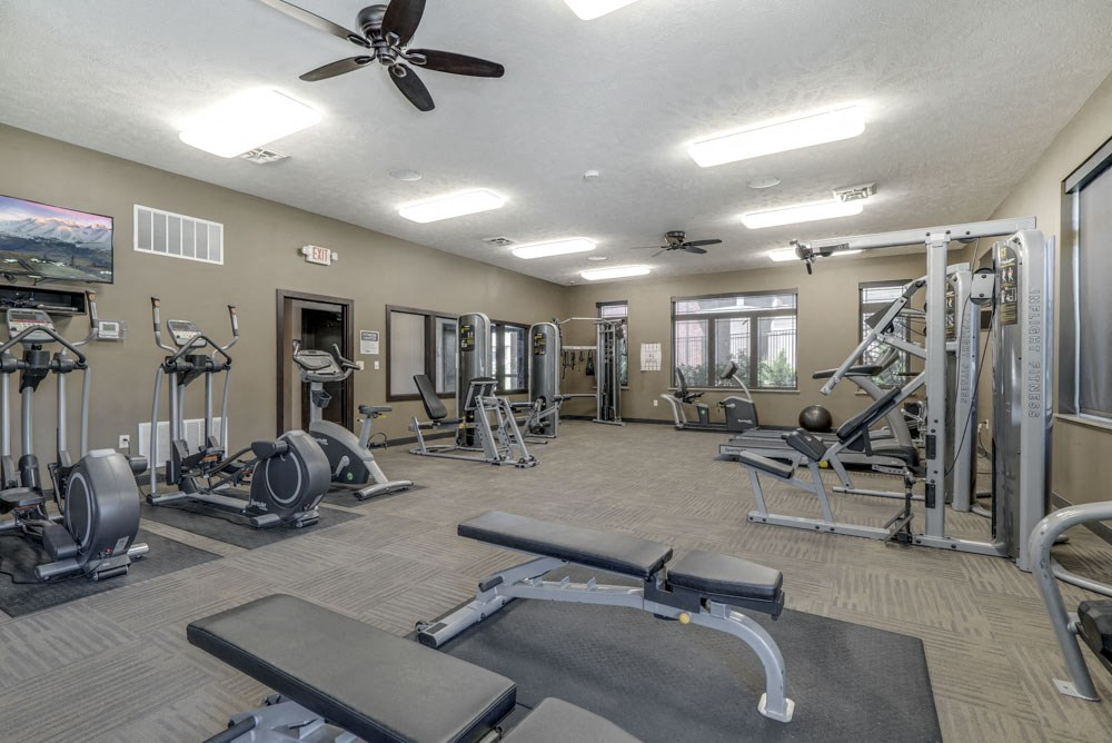 Fitness center at North Pointe Villas!