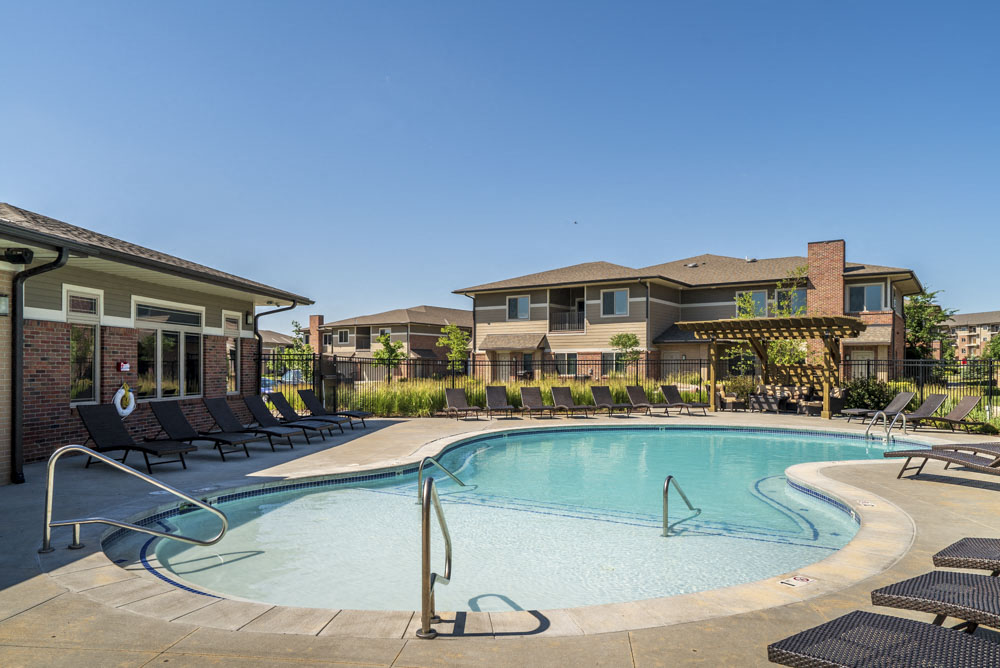 Pool With Lounge Chairs At North Pointe Villas!