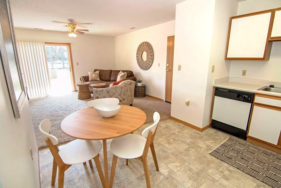 Northridge Heights Apartments Living Area with Breakfast bar in Lincoln NE