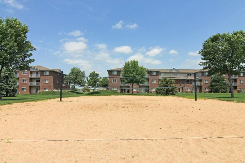 Northridge Heights Apartments Play Court with Building View in Lincoln NE