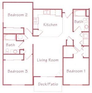 Aspen Floorplan at Northridge Heights Apartments
