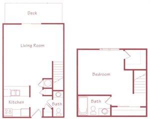 Cedar Floorplan at Northridge Heights Apartments