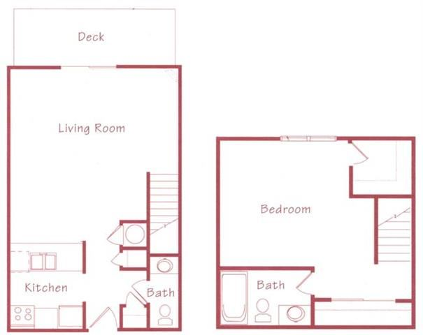 Cedar one bedroom one bathroom Floorplan at Northridge Heights Apartments