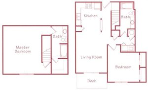 Evergreen Floorplan at Northridge Heights Apartments