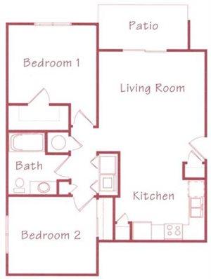 Linden Floorplan at Northridge Heights Apartments