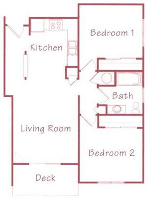 Redwood Floorplan at Northridge Heights Apartments