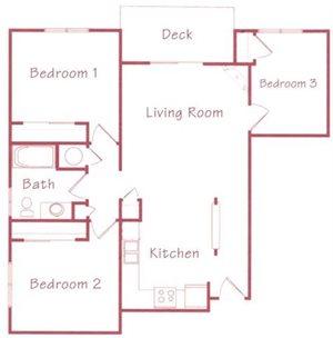 Sequoia Floorplan at Northridge Heights Apartments