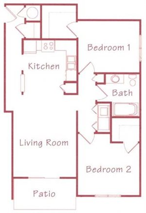 Willow Floorplan at Northridge Heights Apartments