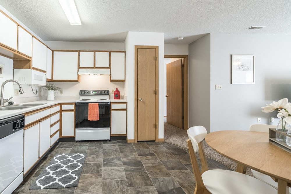 Interiors-Kitchen with dishwasher at Northridge Heights in north Lincoln