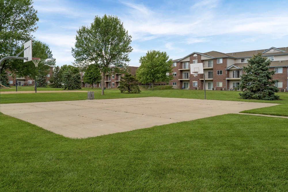 Basketball court at Northridge Heights Apartments!
