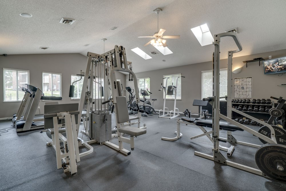 Fitness center at Northridge Heights Apartments!
