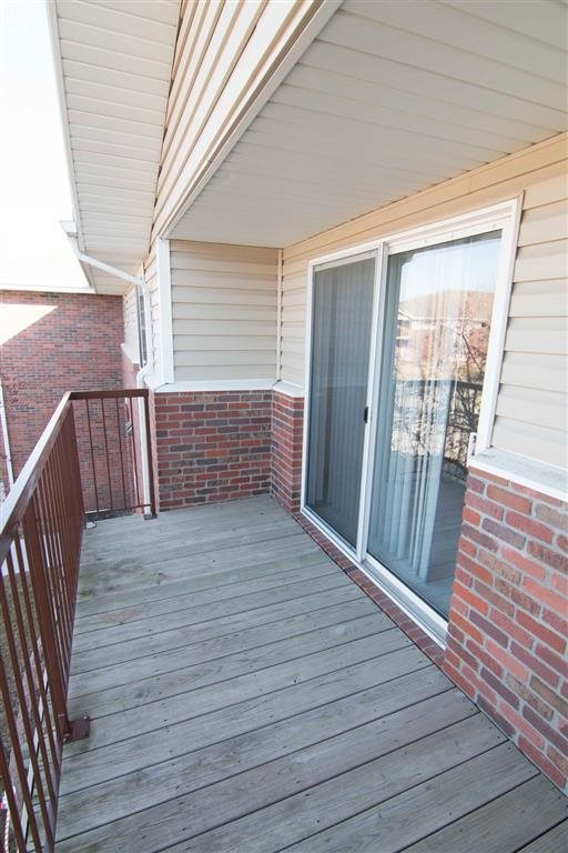 Private Balcony at The Northbrook Apartment Homes, Lincoln, NE,68504
