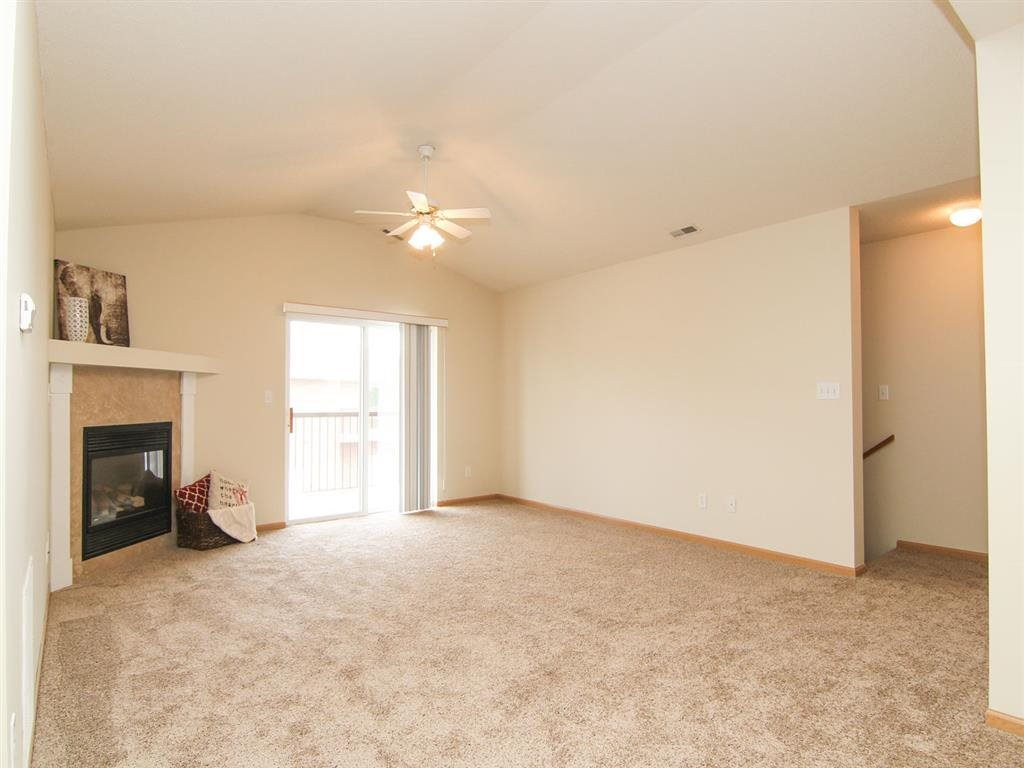 Living Room with fireplace at Northbrook Apartments in Lincoln NE