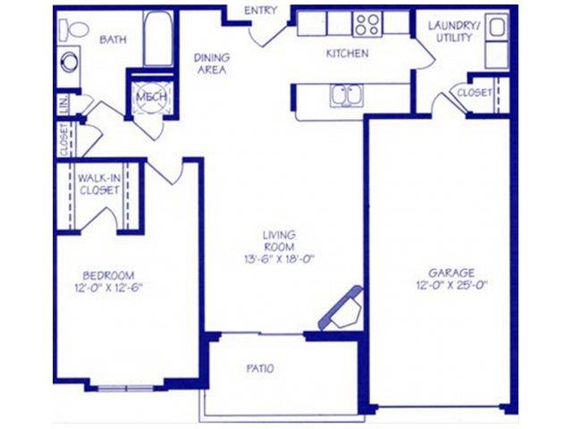 Floor Plans Of The Northbrook Apartment Homes In Lincoln Ne