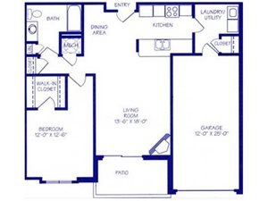 The Bay II Floorplan at The Northbrook Apartment Homes
