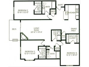 The Glacier II Floorplan at The Northbrook Apartment Homes