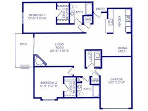 The Harbor II Floorplan at The Northbrook Apartment Homes