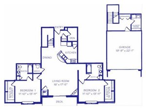 The Reservoir II Floorplan at The Northbrook Apartment Homes