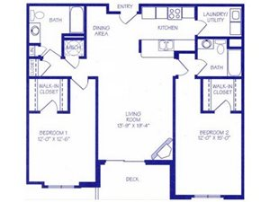 The River II Floorplan at The Northbrook Apartment Homes