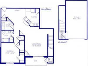 The Waterfall II Floorplan at The Northbrook Apartment Homes