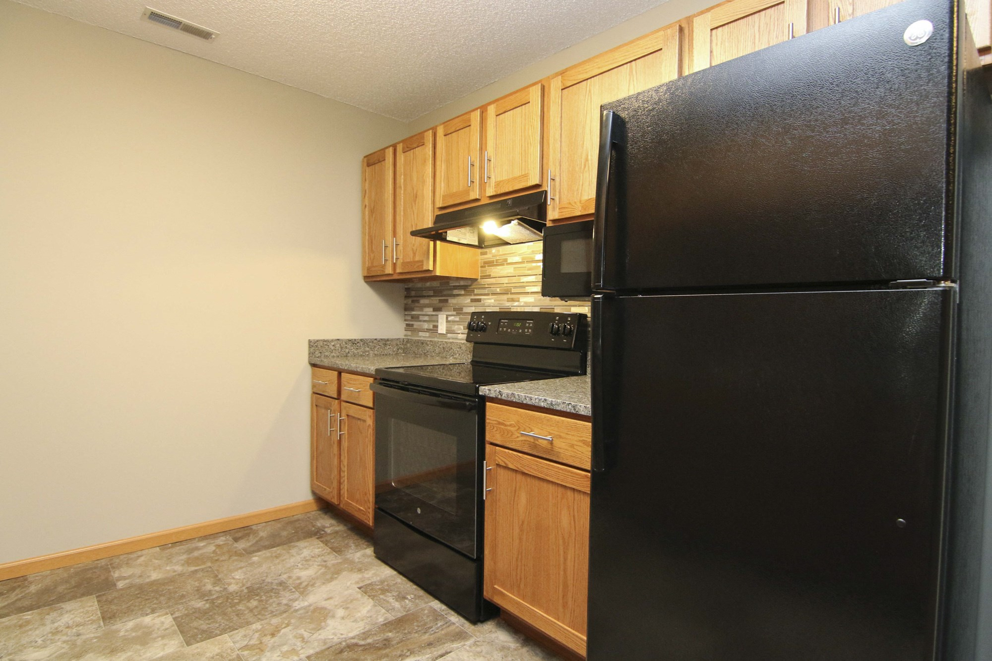Interiors-Renovated kitchen at Northbrook Apartments