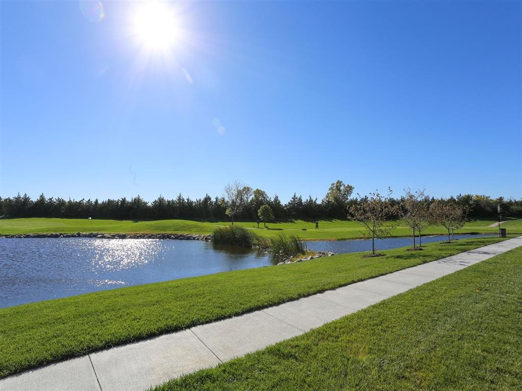 pond and golf course view at Villas at Wilderness Ridge in Lincoln Nebraska