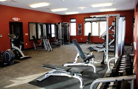 fitness center at Villas at Wilderness Ridge in Lincoln Nebraska