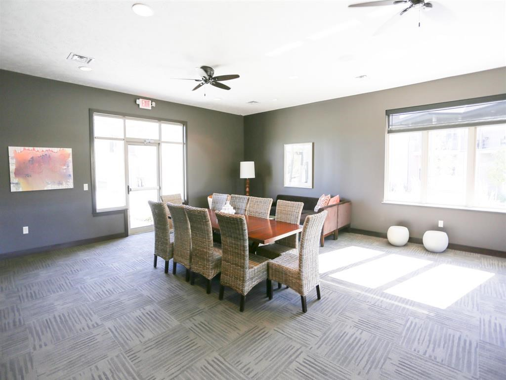 clubhouse meeting room at Villas at Wilderness Ridge in Lincoln Nebraska