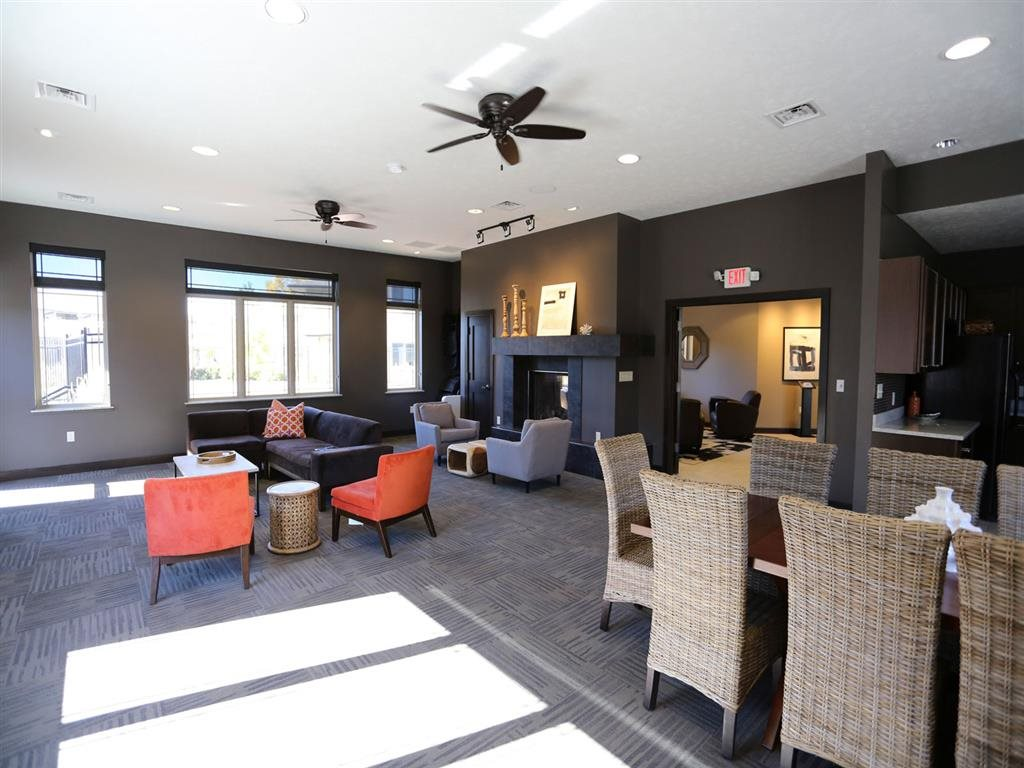 clubhouse space at Villas at Wilderness Ridge in Lincoln Nebraska