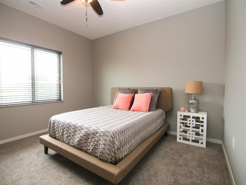 amazing bedroom at Villas at Wilderness Ridge in Lincoln Nebraska