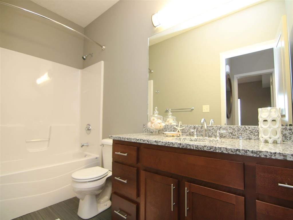 spacious bathroom at Villas at Wilderness Ridge in Lincoln Nebraska