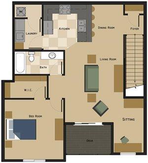 Unit D Floorplan at The Villas at Wilderness Ridge