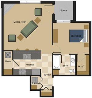Unit E Floorplan at The Villas at Wilderness Ridge