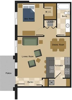 Unit G Floorplan at The Villas at Wilderness Ridge