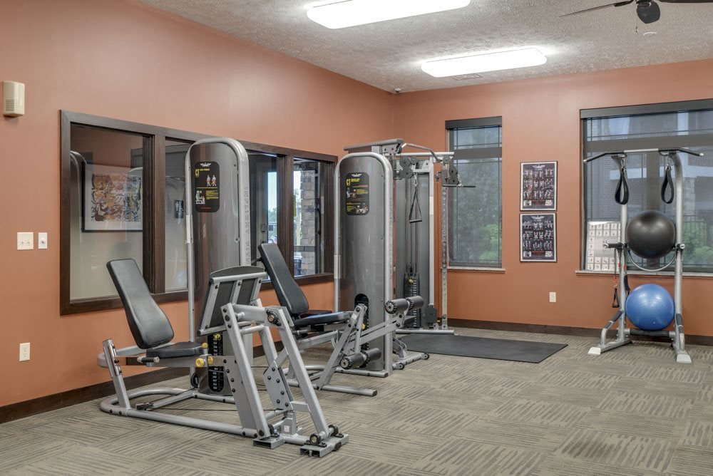 Fitness center at the Villas at Wilderness Ridge