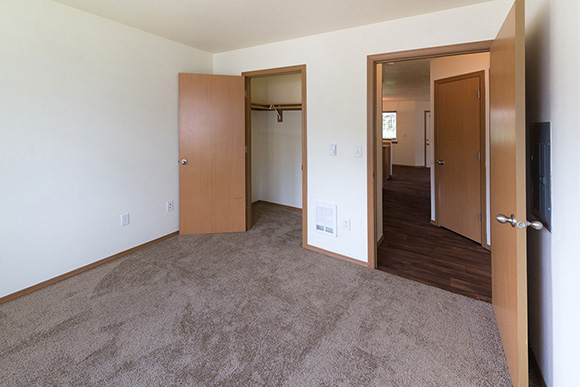 2nd bedroom has a large closet